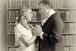 Algernon Moncrieff and Cecily Cardew - played by Stevie Lambert and Mercedes Cook