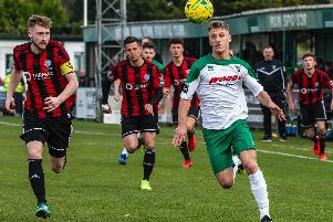 Mason Walsh on the attack against Brightlingsea on Saturday / Picture by Tommy McMillan