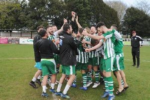 The title celebrations are under way at Oaklands / Picture by Kate Shemilt