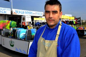 Charlie Williams, 28, is concerned about the seafront redevelopment. Picture: Derek Martin