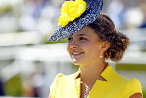 Megan Nicholls enjoys last year's Qatar Goodwood Festival / Picture by Malcolm Wells