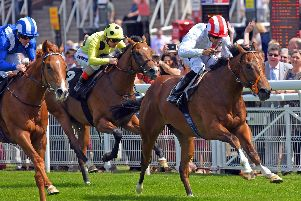 Wild Thunder leads on the way to victory in the opening race of the Goodwood May Festival / Picture by Malcolm Wells