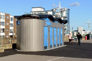 The toilets on Bognor Regis' seafront before they were closed earlier this year