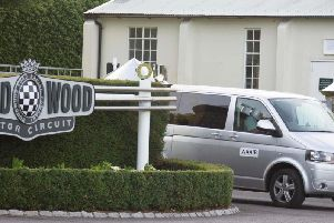 Air accident investigators at Goodwood