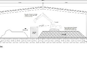 Plans for the new building where the concrete crushing will take place
