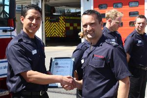 Galo David Choez Loor will be based at Chichester Fire Station