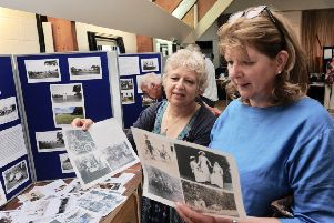 Sisters Amanda and Tracey Congdon were special guests invited by Yapton and Ford Local History Group to the exhibition about their great grandfather