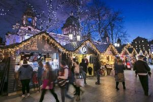 An example of a Christmas market with wooden chalets (Planning application 19/01451/FUL)