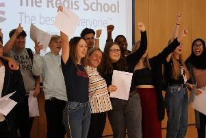 The Regis School, A Level results day 2019