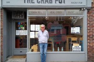 Owner Edward Sye outside the former home of the Selsey micropub at 145 High Street