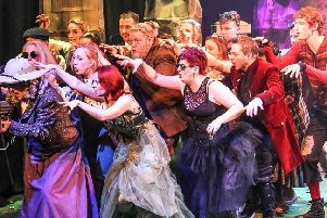 The cast of Into The Woods, who will be at Blackfriars Theatre and Arts Centre until Saturday, April 29. EMN-170424-170808001