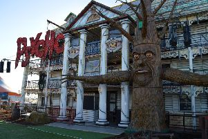 The 'Psycho Mansion' at Fantasty Island's 'Fear Island' attraction.