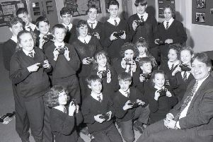 Pupils at Haven High, in Boston, were snap-happy after they received cameras as part of a special sponsorship deal between the school and Lloyds Bank 25 years ago. The group were all winners in the school's weekly code of conduct raffle.