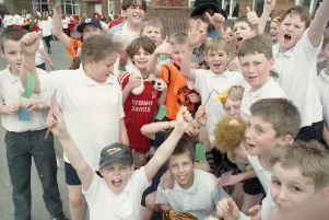Carlton Road youngsters took part in a sponsored walk 20 years ago in a bid to equip their new school with the latest technology. The children were hoping to raise more than �1,000 to buy new computers.