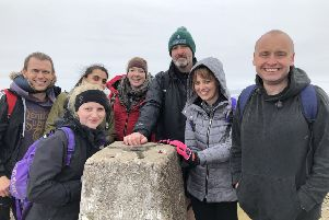 Colleagues from Laughing Dog during their Three Peak Challenge.