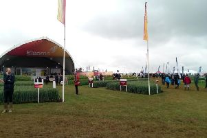 Impressive stands and crop displays from Lincolnshire-based seed companies at Cereals 2019 near Boothby Graffoe.