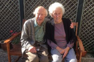 Retiring at 88 ... Les Sutton and wife Sylv, of Kirton Holme.