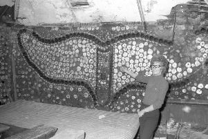 The Whale Room with landlady Dora Owston in a photograph taken earlier in the 70s.