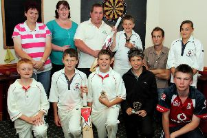 Skegness Cricket Club's presentation night for its junior team 10 years ago.