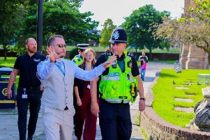 Coun Spencer toured the town streets with police officers and other councillors recently