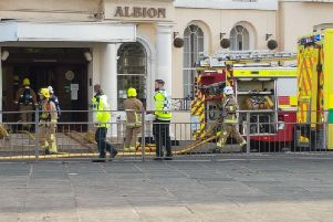 Major incident at Brighton hotel