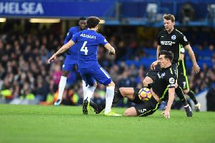 Dunk tackles Fabregas as Brighton visit Chelsea