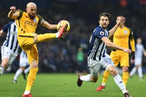 West Brom's Jay Rodriguez in action against Albion last month. Picture by Phil Westlake (PW Sporting Photography)