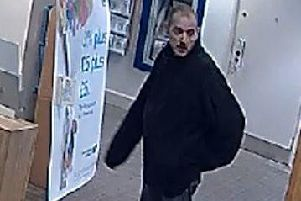 Brighton bank robbery suspect. Pic: Sussex Police