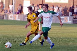 Bognor on the attack against the young Seagulls / Picture by Kate Shemilt