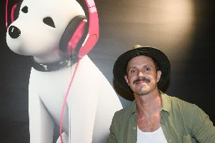 Jake Shears celebrated the release of his new album at a signing event held at Brighton hmv.  Photo by James McCauley.