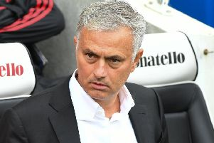 Manchester United boss Jose Mourinho. Picture by PW Sporting Photography