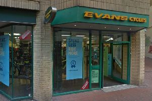 The Evans Cycles store in Brighton - courtesy of Google Street View