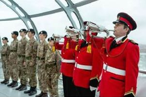 Armistice marked during sunset ceremony in the i360, Brighton