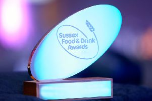 Sussex Food and Drink Awards trophy