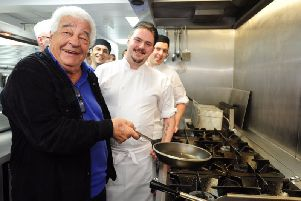 Antonio Carluccio at his Peterborough restaurant