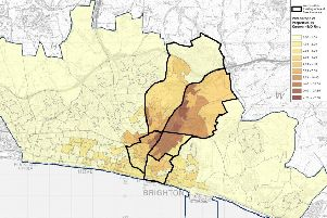 Density Of Known Hmos in Brighton and Hove