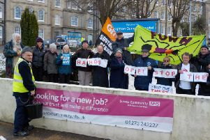 Campaigners at Brighton General Hospital