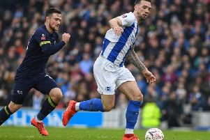 Shane Duffy in action against Derby. Picture by PW Sporting Photography