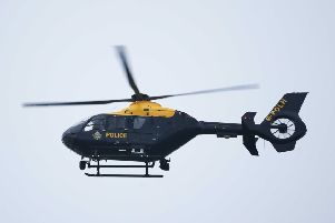 The police helicopter was seen flying over St Leonards