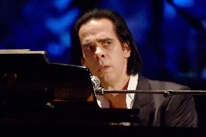 Nick Cave performs in Los Angeles, California.  (Photo by Kevin Winter/Getty Images)