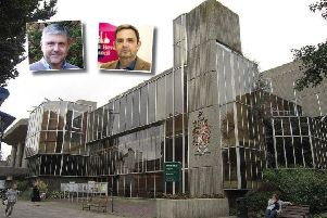 The battle for Hove Town Hall, Inset: Conservative leader Tony Janio (left) and Labour leader Daniel Yates (right)