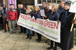 Varndean Green protesters outside Hove Town Hall