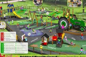 The new improved Farm Green Play Area