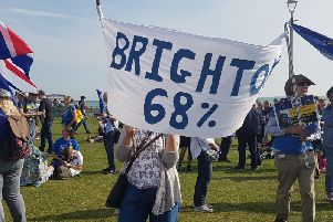 Brexit protest in Brighton