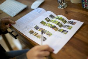 Filling in survey form for the RSPB Big Garden Birdwatch. Picture: Rahul Thanki (rspb-images.com)