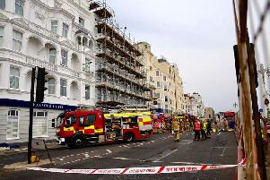 The seafront road was sealed off by emergency services