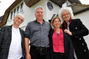 John Mason, Matt Davison, Teresa Desantis, and Brian May. SR1910689.JPG