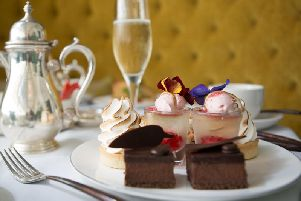 Some of the sumptuous cakes included in the afternoon tea