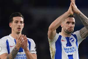 Lewis Dunk and Shane Duffy. Picture by Getty Images