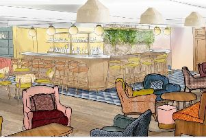 A sketch of the planned interior of Coppa Club Brighton